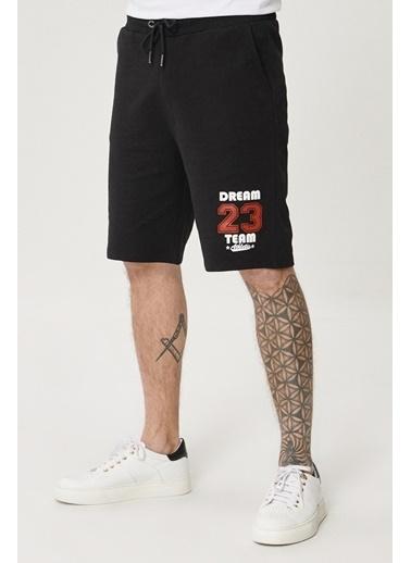 AC&Co / Altınyıldız Classics Slim Fit Günlük Rahat Spor Örme Şort 4A9521200004 Siyah